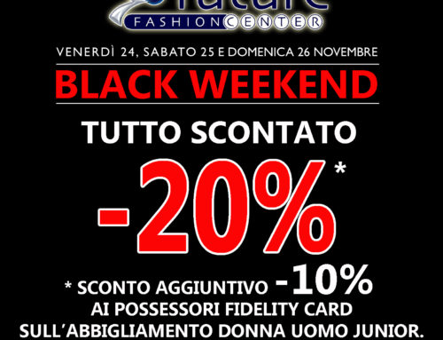 Black Weekend – Tutto scontato del 20%